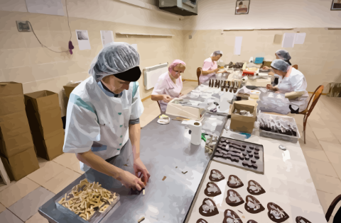 corporate business training for chocolate manufacturer